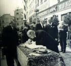 Prezident Edvard Beneš v J. Hradci v roce 1937