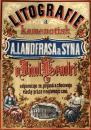 Plakát propagující práci Landfrasovy tiskárny