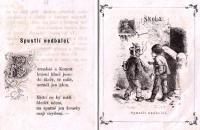 Dětská mravoučná poezie, bývalá knihovna 1. mateřské školy v J. Hradci