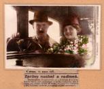 Památka na zasnoubení bratra E. Destinnové E. Kittla a M. Martínkové