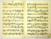"""Rukopis skladby jindřichohradeckého rodáka J. V. Vacka """"Hudební aforismy"""""""