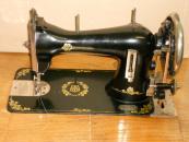 Nejstarší typ šicího stroje Lada z Akciové továrny na šicí stroje Soběslav