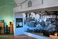 Diorama s pohledem do interiéru soběslavské továrny