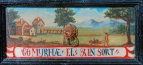 Detail zásuvky s krajinným výjevem
